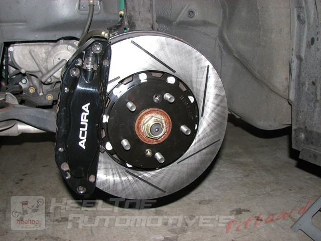 Racingbrake 2-piece rotors and ET500 pads installed on 04-08 TL w/ Brembo