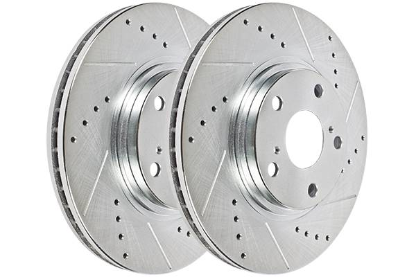 Hawk Performance Sector 27 Brake Rotor Pair, Front, Honda Pilot 2009-13 (Drilled & Slotted), Drilled & Slotted, HR4958