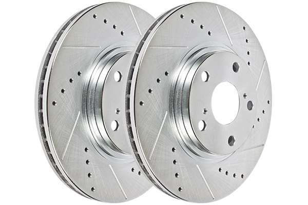 Hawk Performance Sector 27 Brake Rotor Pair, Rear, Acura Integra 1990-1993 (All), Drilled & Slotted, HR5132