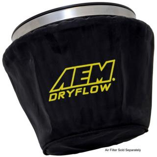 "AEM Induction Pre Filter Air Filter Wrap (7-1/2"" Base, 5"" Top and 5"" Tall), Black, 1-4002"