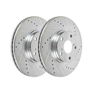 Hawk Performance Sector 27 Brake Rotor Pair, Rear, Drilled & Slotted, HR4410