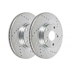 Hawk Performance Sector 27 Brake Rotor Pair, Front, Drilled & Slotted, HR4760