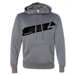 "Heeltoe ""Burn Out"" Pull-Over Tech Hoodie, Grey"