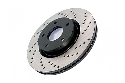 Stoptech Cross Drilled Rotor - POR, 128.37056R